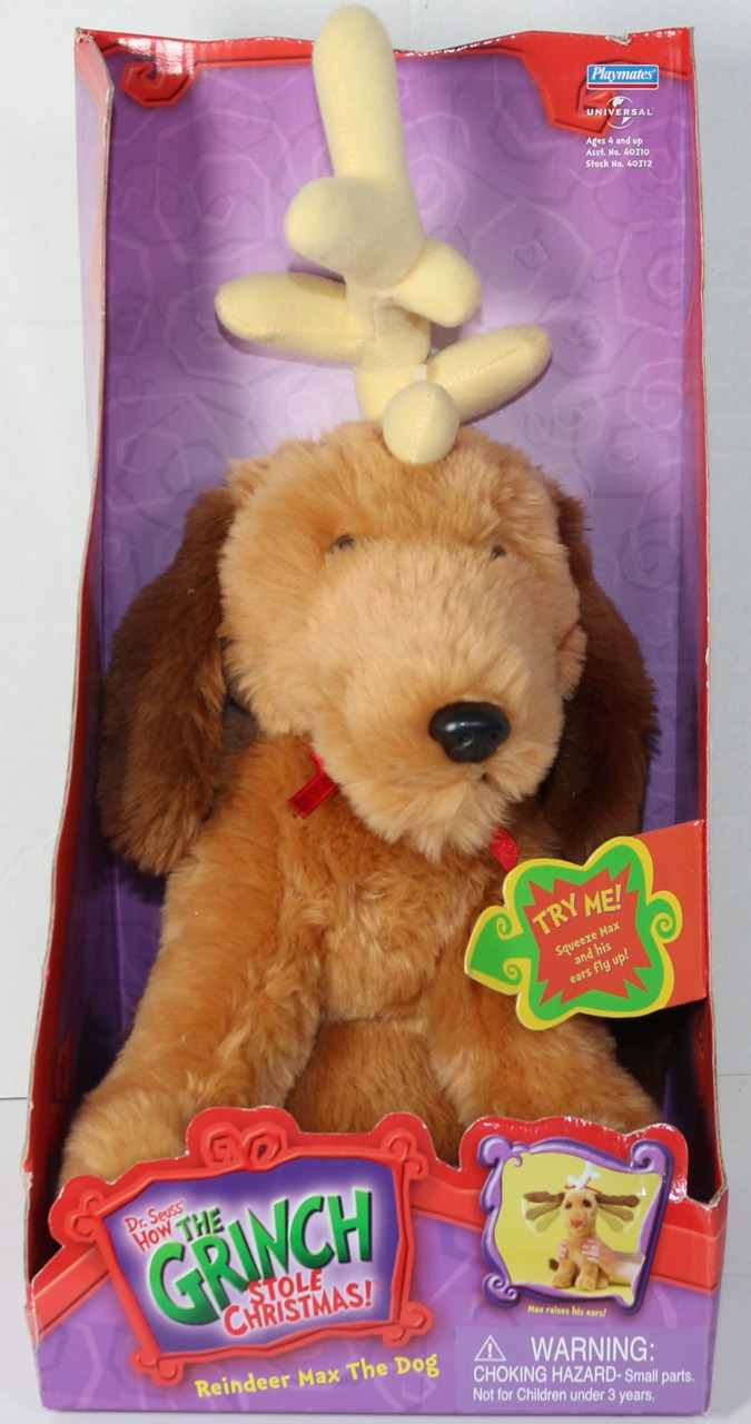 Vintage Playmates Max Reindeer Dog Flappy Ears Grinch Stole Christmas Plush New Ebay