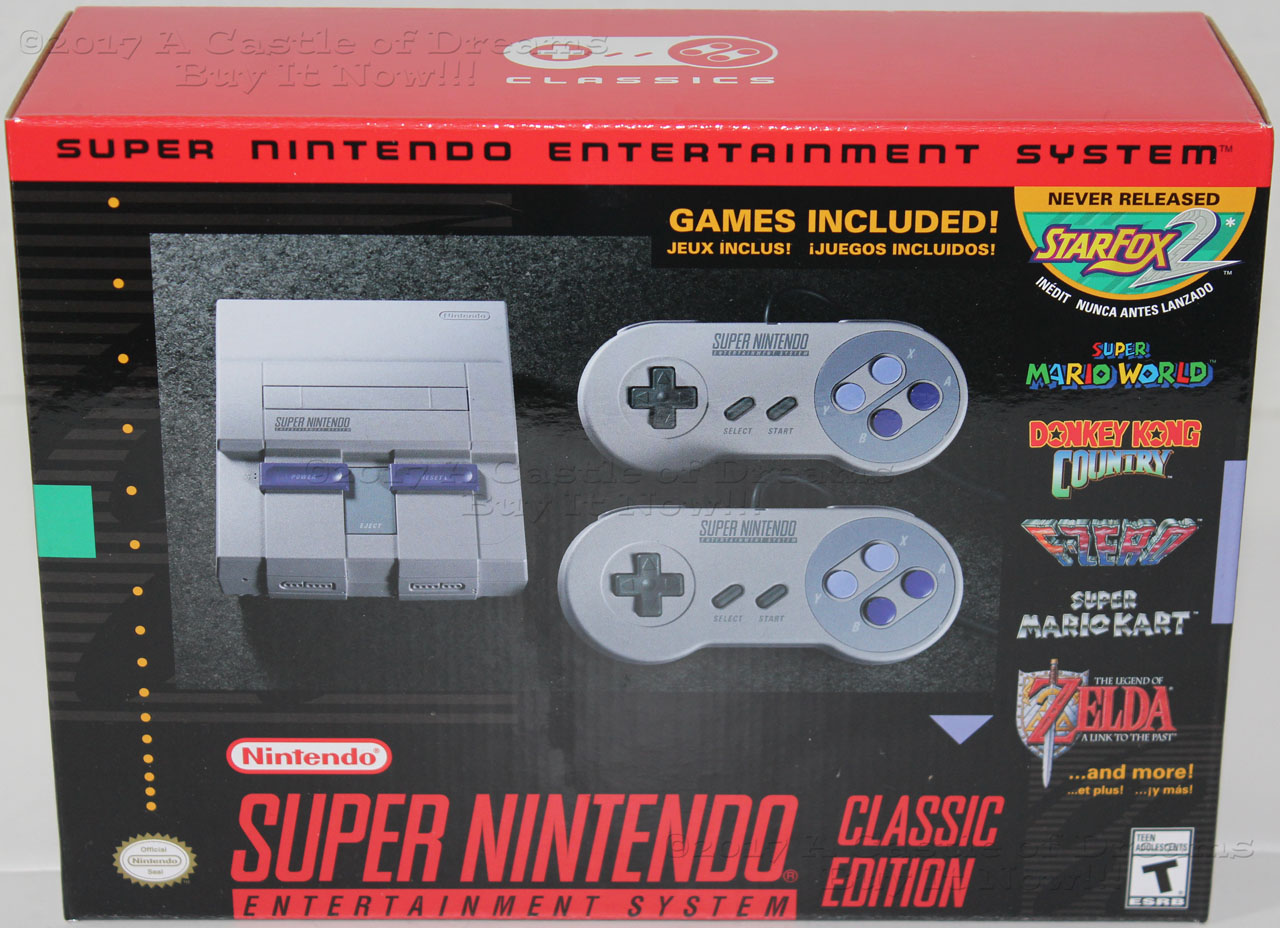 Super Nintendo Classic Edition Snes System Mini Console 21 Games