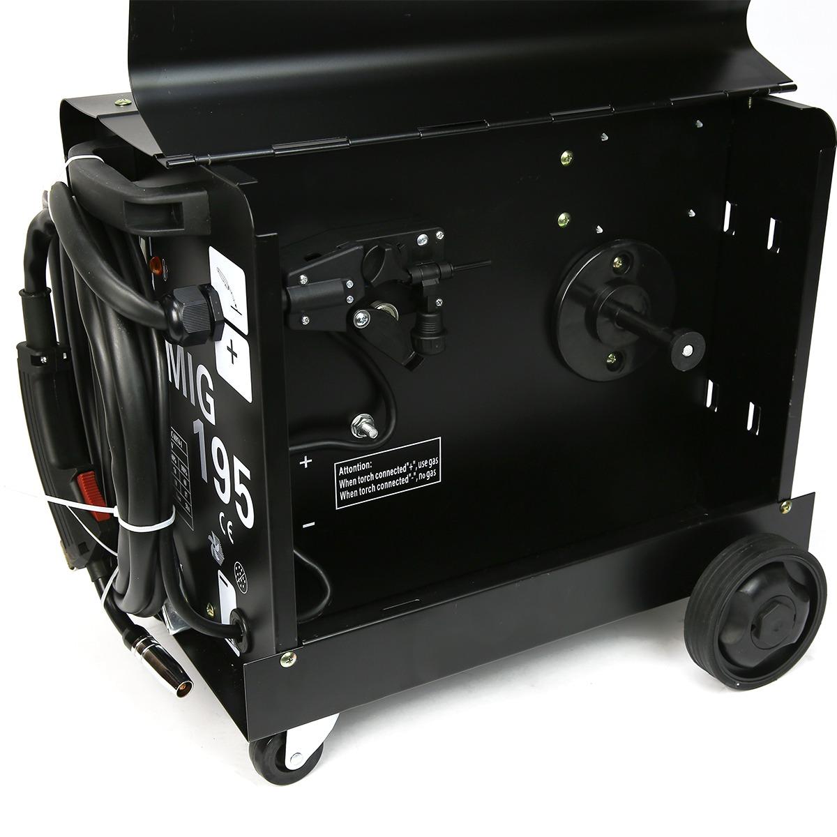 195 Amp Dual Mig 230v Flux Core Auto Wire Welding Machine Gas No Welder Parts Cored With