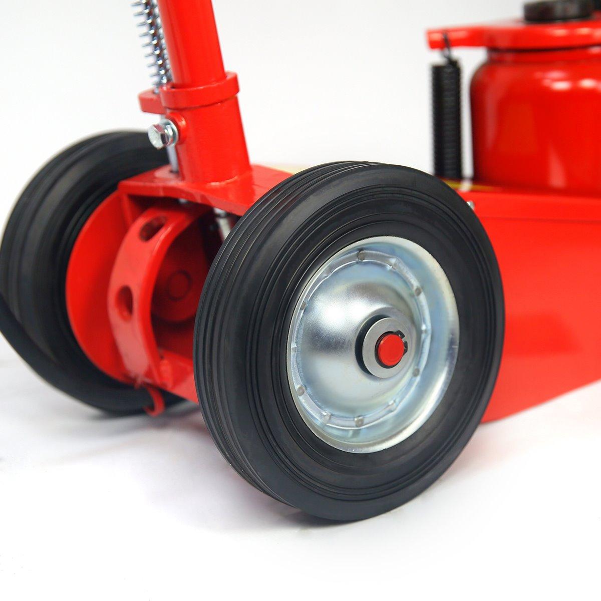 Heavy duty 35 Ton Air Hydraulic Floor Jack Wheels Lift ...