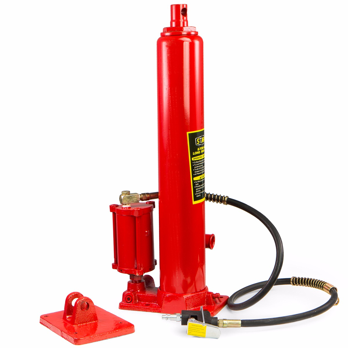Air Bag Jack >> 2 in1 8 ton air manual Hydraulic Ram Jack Pump Engine Lift hoist Cherry Picker | eBay