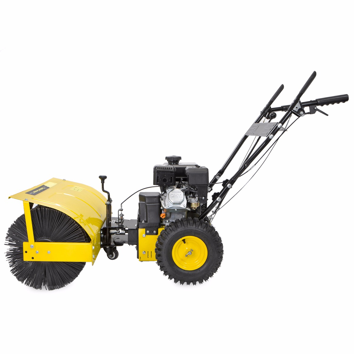 Rotary Broom Sweeper : Quot walk behind snow sweeper power brush broom industrial