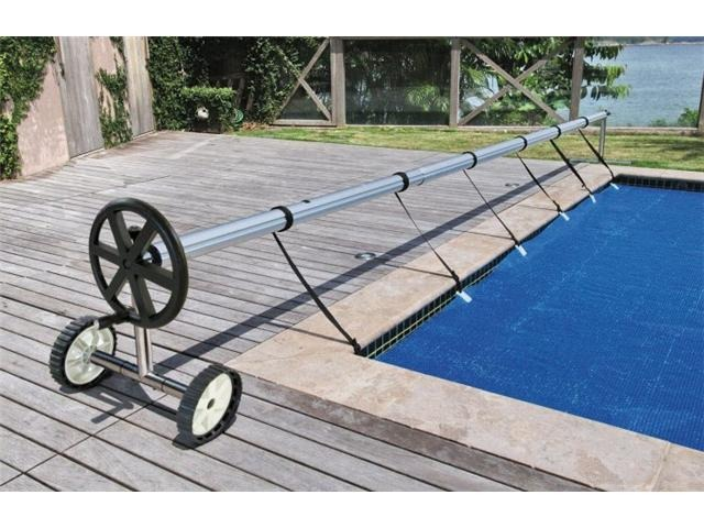 Stainless Steel 21 Ft Inground Swimming Pool Cover Reel Tube Set Solar Cover 846183123477 Ebay
