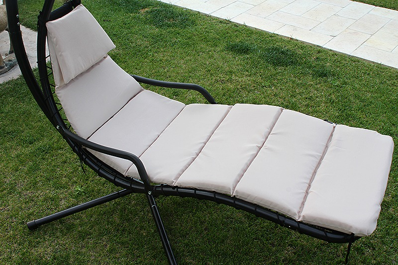 Hanging Helicopter dream Lounger Chair Arc Stand Swing Hammock Chair Canopy tan : hammock with canopy and stand - memphite.com