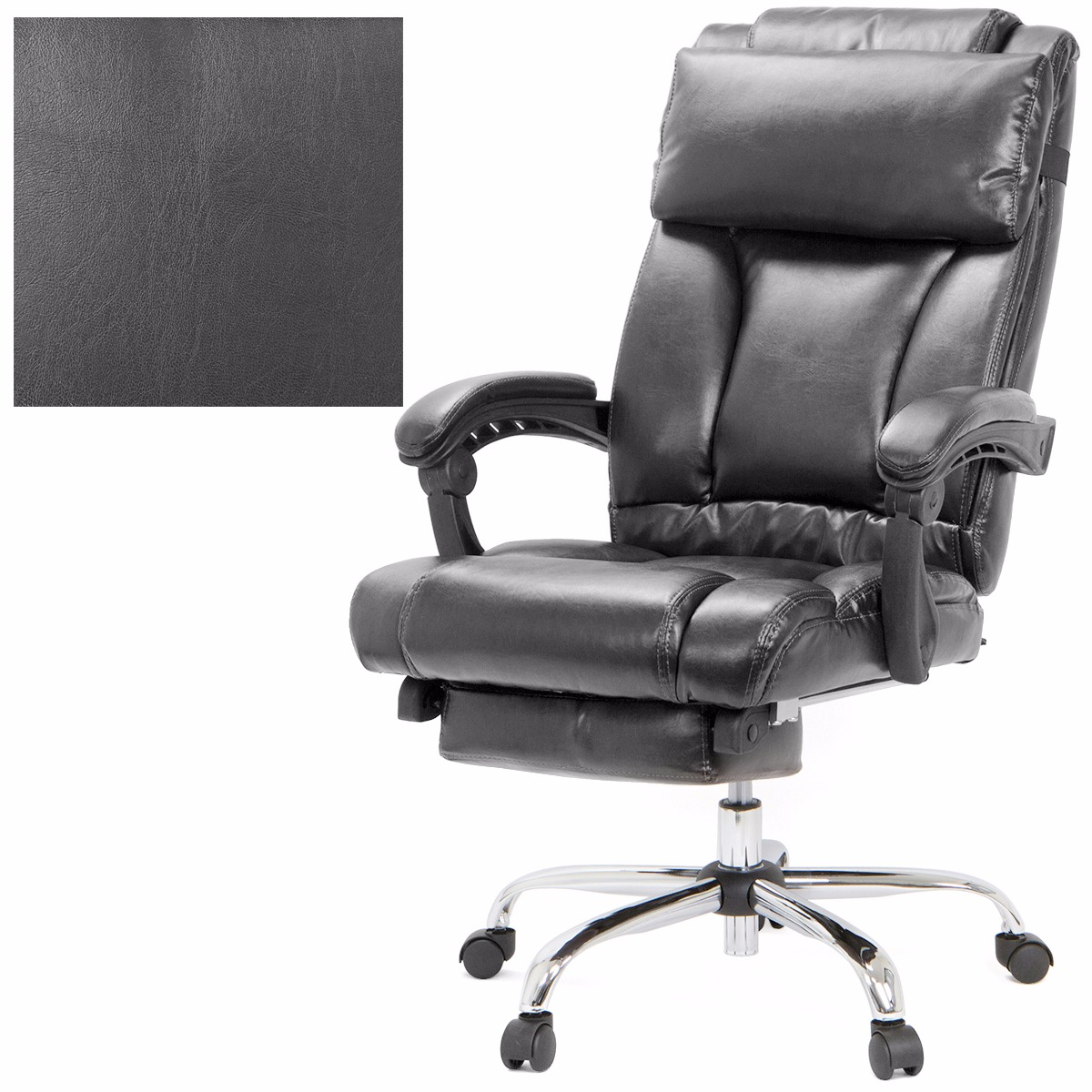 Barton Executive Reclining Office Chair Ergonomic High Back Leather ...