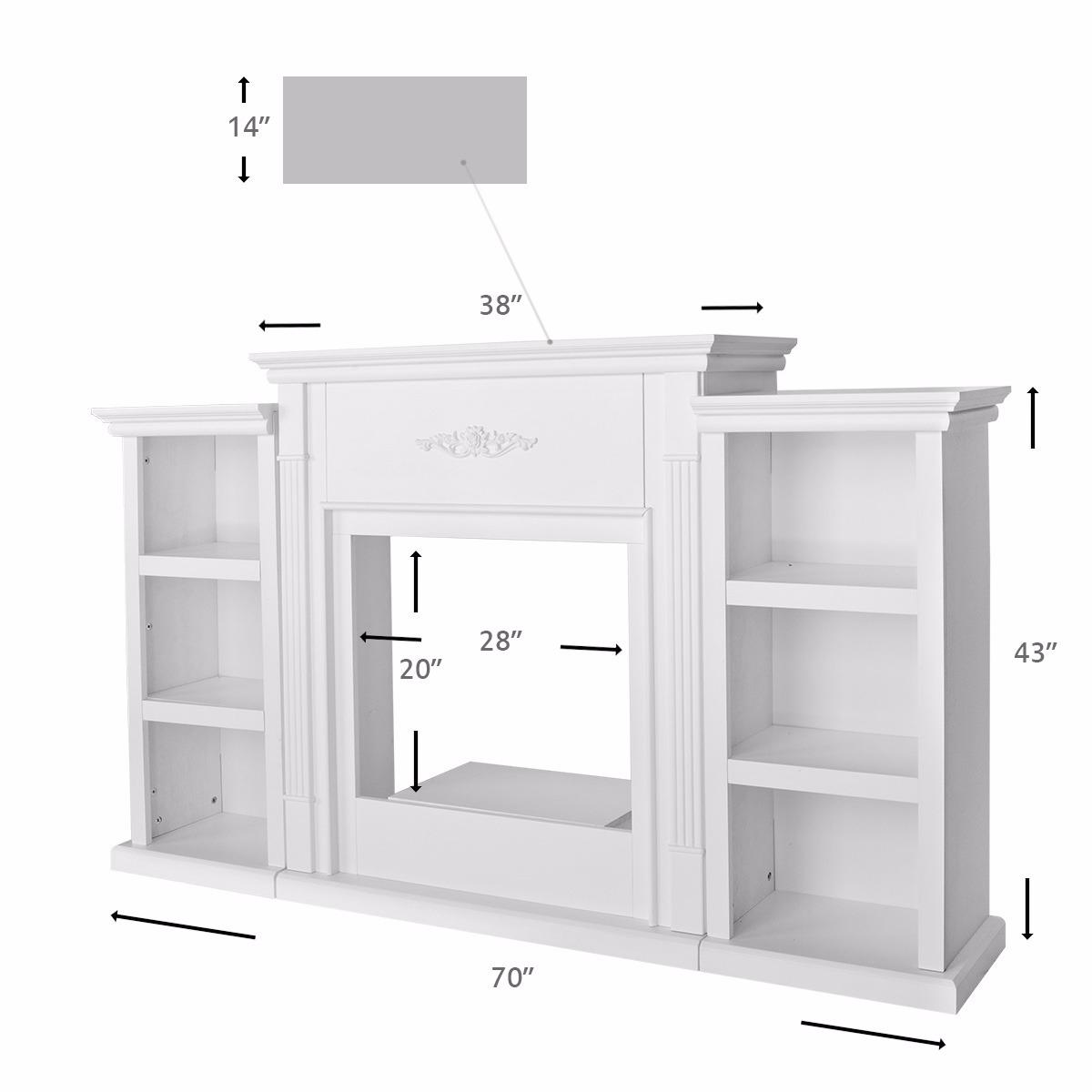 tv stand ivory entertainment media console open shelves elegant