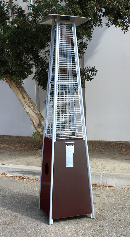 Pyramid Flame Pow Coated Heater Outdoor Patio Tower