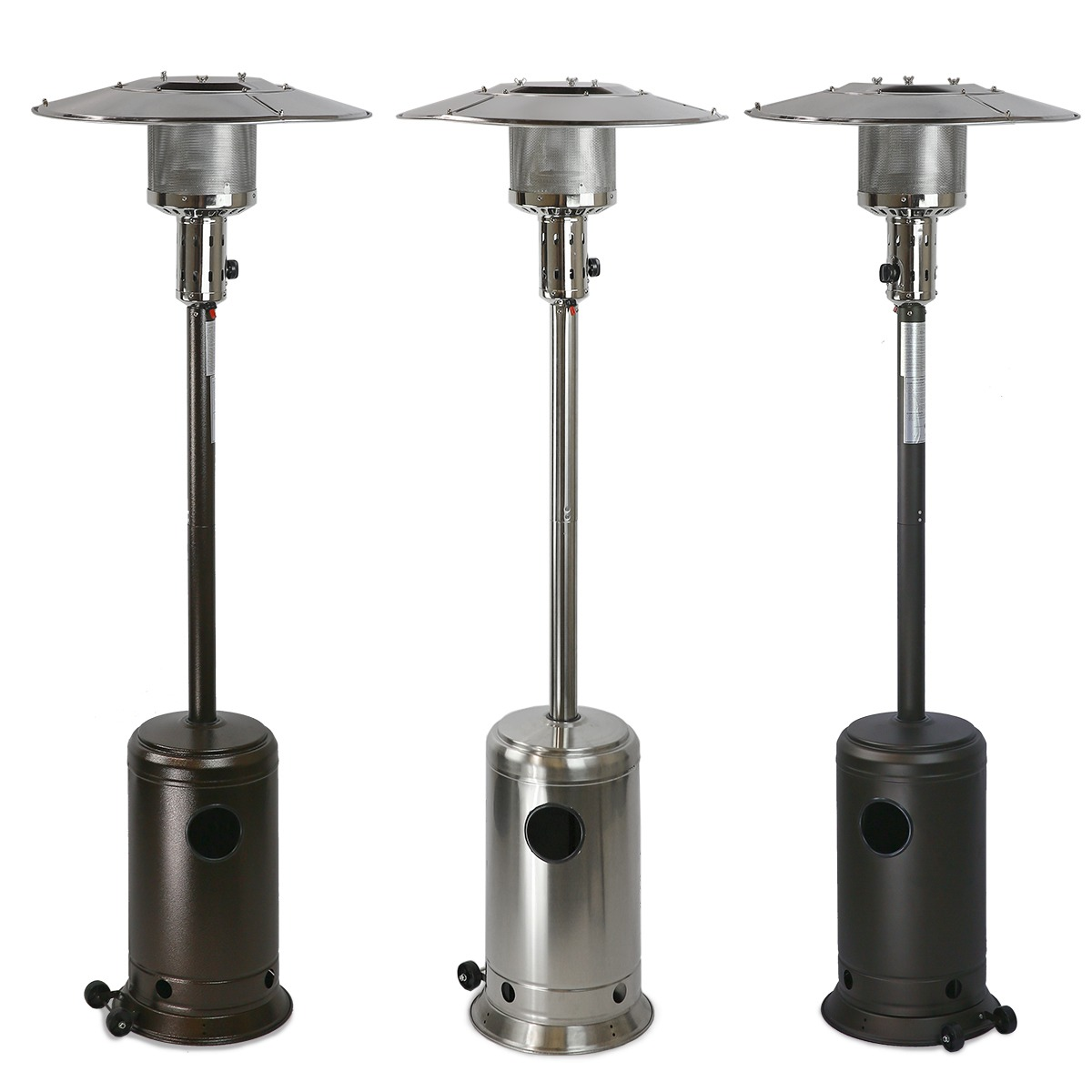 48000 BTU Standing Propane Patio Heater Stainless Steel / Bronze ...