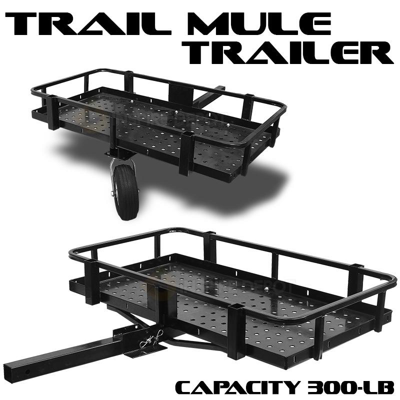 Atv utv trail mule trailer garden lawn hunting fishing for Fishing carts walmart