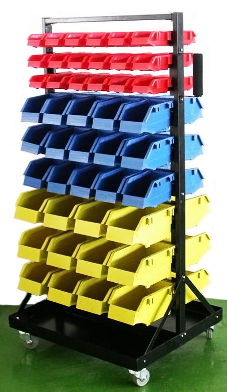 Parts Organizer Rack Bins 90 Seperate Storage Buckets Shop