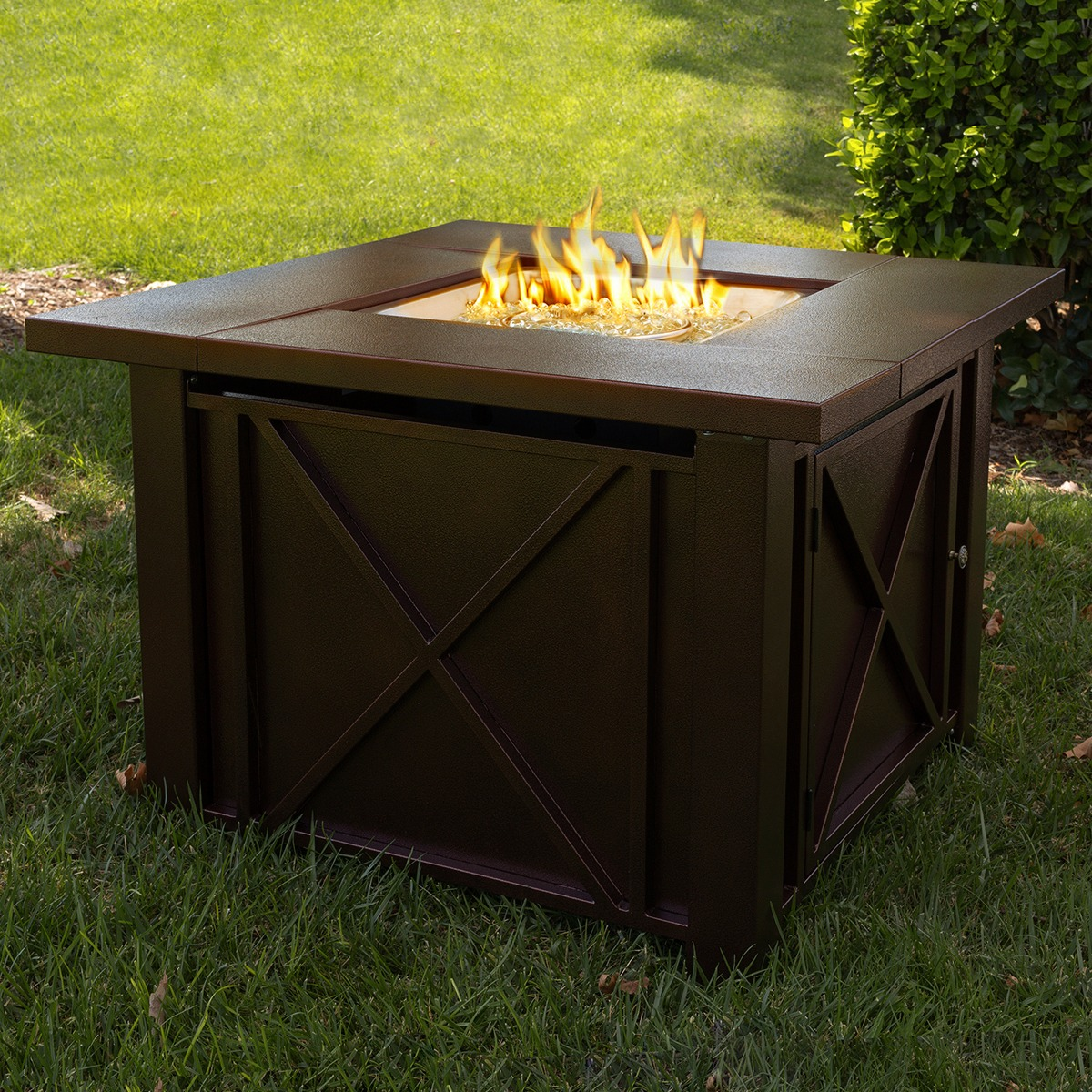 LPG Fire Pit Table Outdoor Gas Fireplace Propane Heater Patio Backyard Deck  New