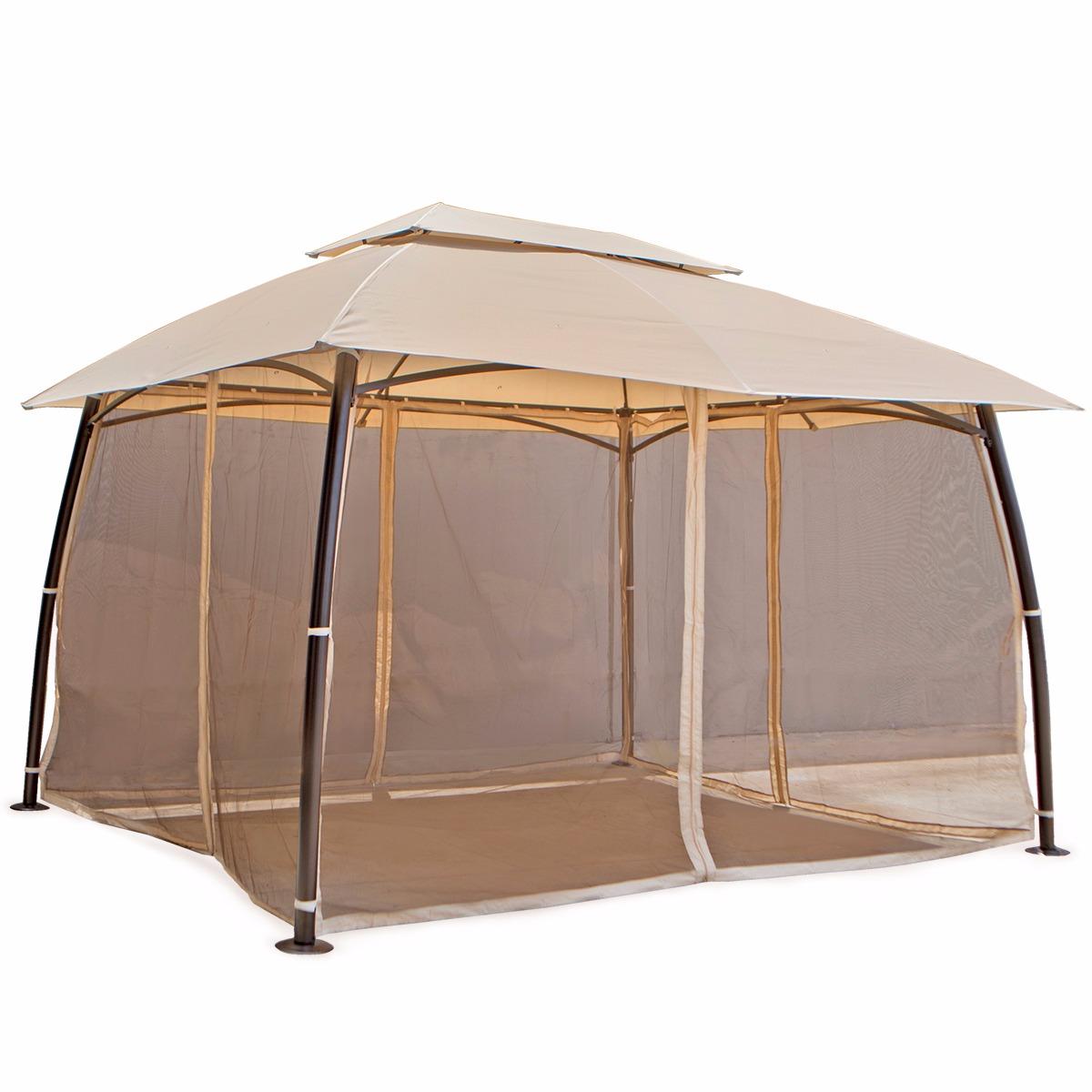 outdoor home 10u0027 x 13u0027 backyard garden awnings Patio Gazebo canopy tent netting  sc 1 st  eBay & outdoor home 10u0027 x 13u0027 backyard garden awnings Patio Gazebo canopy ...