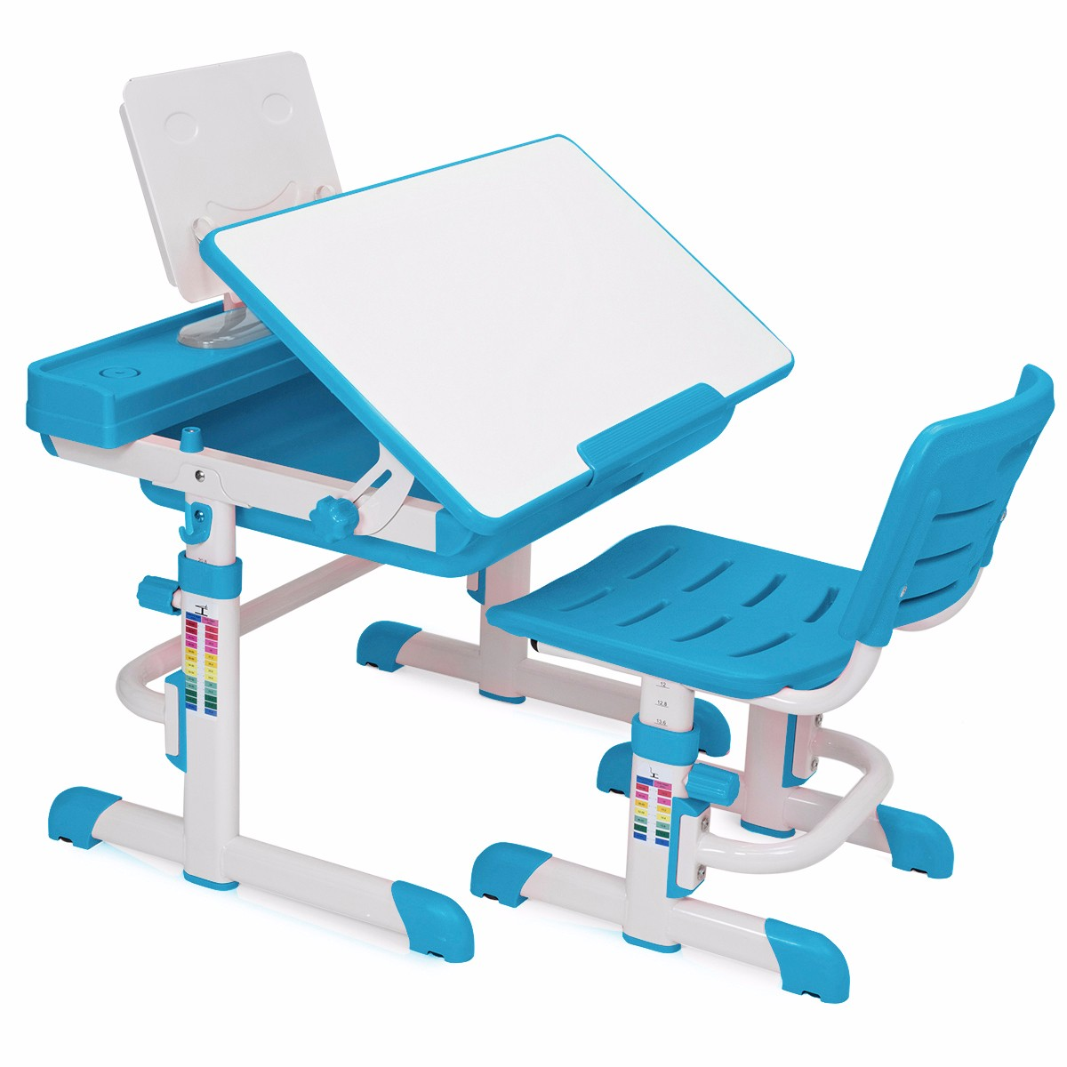 Barton Kids Interactive Desk Work Station Learning Table Height Adjustable  Blue
