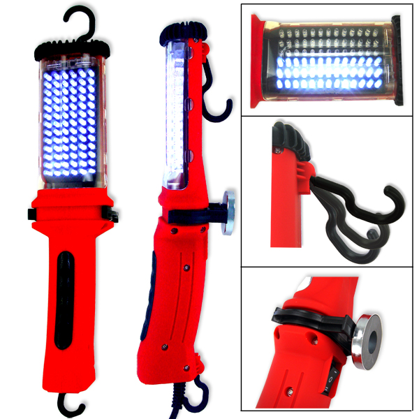 100 Led Rechargeable Cordless Work Light Garage Inspection: 100 LED HANDHELD AUTO CORDLESS RECHARGEABLE MECHANIC'S