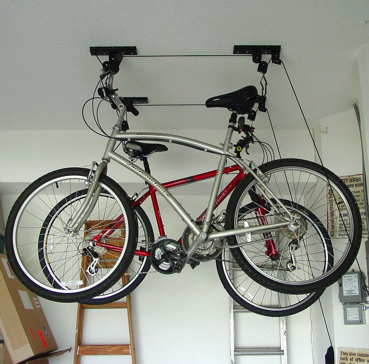 Ceiling Mounted Roof Bicycle Rack Garage Pulley Racks Stand Storage on bike storage, messy garage, ladder holders for garage, bike wheel wall hooks, storing bikes in garage, bike cargo trailer, shelving for garage, bike check, bike mechanic stand, s hooks garage, dirty garage, bicycle garage, bike display stand, gladiator garage, bike rack, bike carrier, wall systems for garage, bike garage shelving, bike wall mounts for inside, bike clip art,