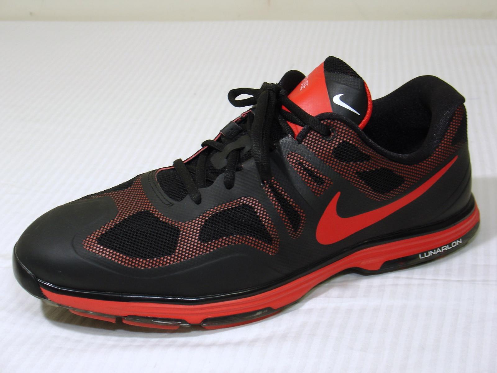 reputable site b4848 f67f0 Detalhes sobre Sapatos de golfe Nike Lunar Ascend Ii Masculino  Preto Vermelho Performance 10 Wide 628341 600- mostrar título no original