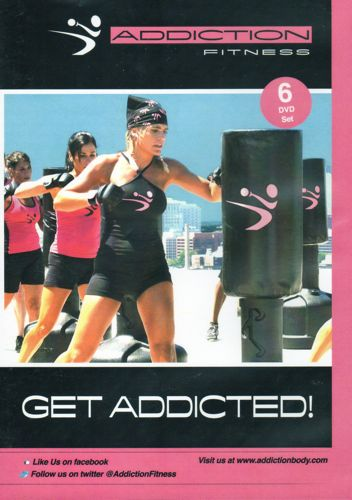Addiction Fitness Heavy Bag Boxing Workout 6 Dvd Set Get Addicted Exercise New Ebay