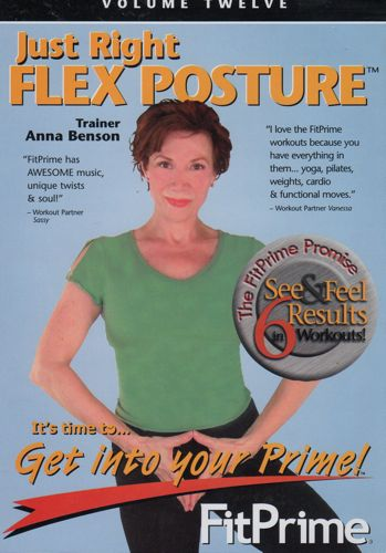 Fit Prime Just Right Flex Posture Dvd Anna Benson The Firm