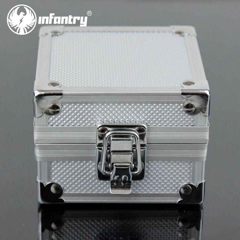 infantry uhr ausstellungsstand uhrenbox kasten schwarz box schloss kisten neu ebay. Black Bedroom Furniture Sets. Home Design Ideas