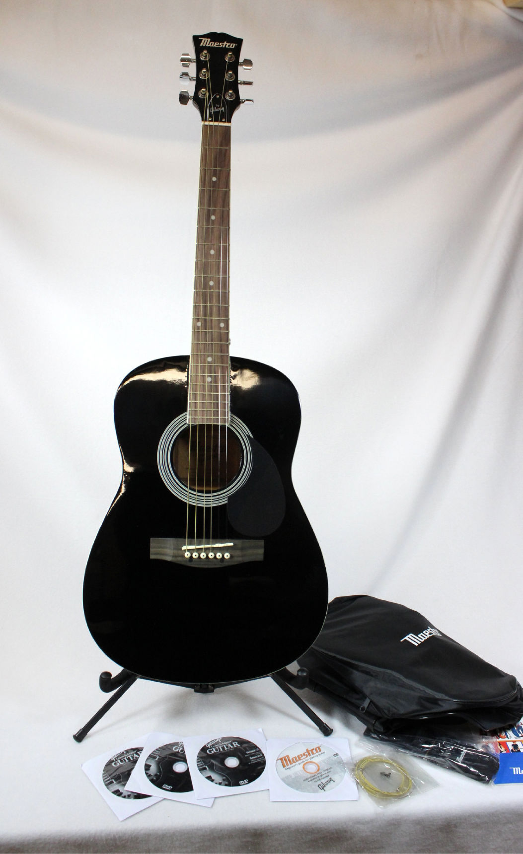 maestro by gibson parlor size acoustic guitar ebay. Black Bedroom Furniture Sets. Home Design Ideas