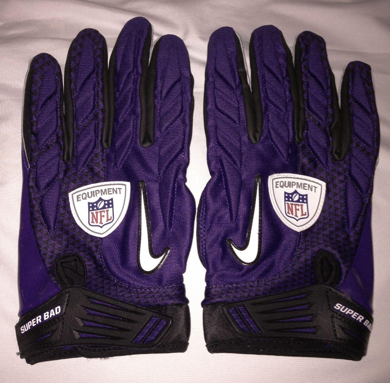 Nike Gloves Football: NEW Mens 3XL NIKE SUPERBAD SG NFL Equipment PURPLE
