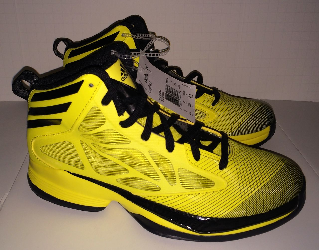 NEW Youth 4 4.5 5.5 ADIDAS CRAZY FAST Yellow Black ...