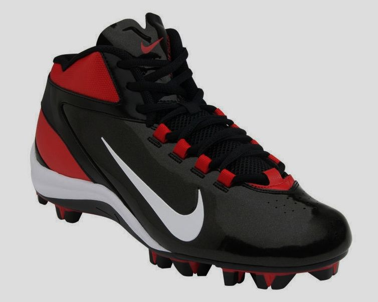 7618b511f196 New Youth Boys Nike Alpha Speed Shark Black Red White Molded Football Cleats