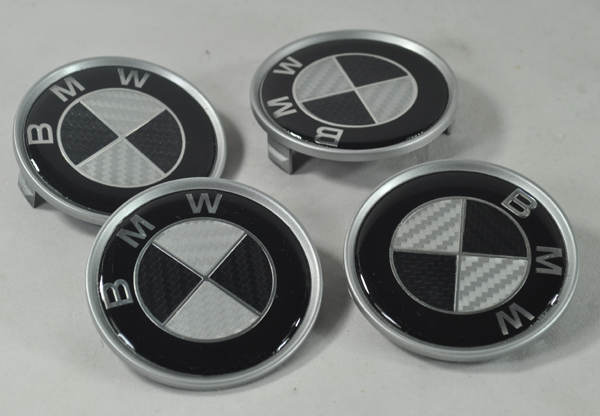 4 carbon nabenkappen felgendeckel emblem bmw e46 e65 e87 e90 e36 e39 x5 neu ebay. Black Bedroom Furniture Sets. Home Design Ideas