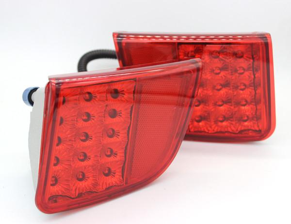 2 Rear Bumper reflector LED Brake Tail Light For Toyota Land Cruiser Fj200 08-15