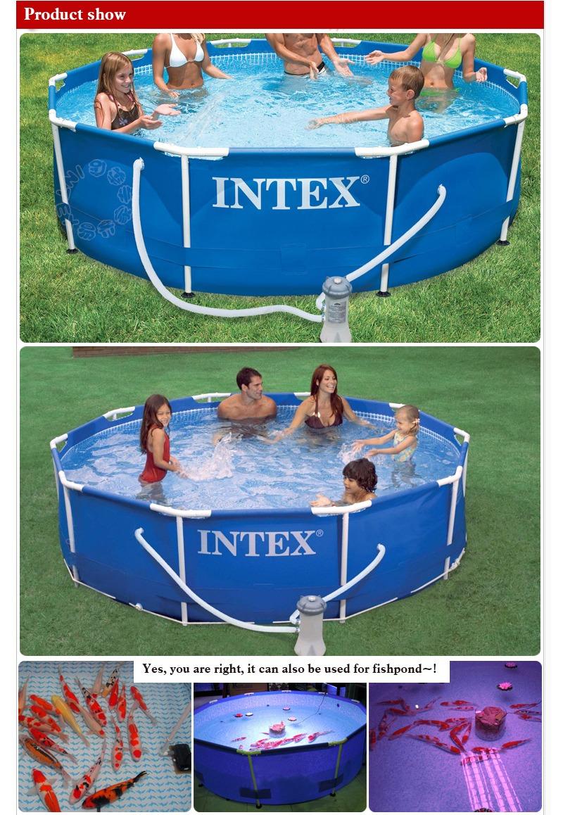 Intex 56999 Metal Frame Large Capacity Outdoor Family
