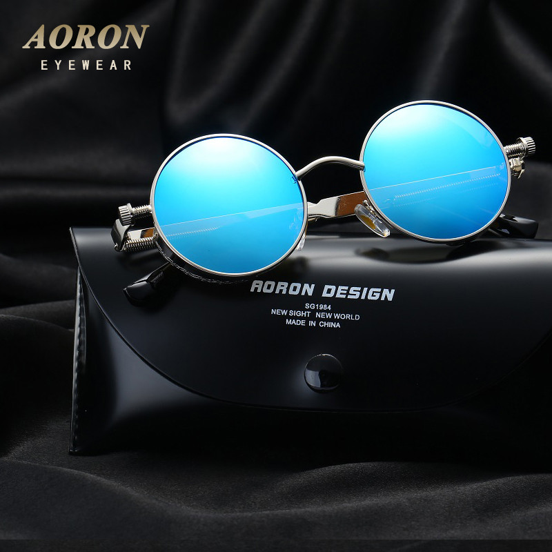 618759615b1 New Vintage Polarized Steampunk Sunglasses Fashion Round Mirrored ...