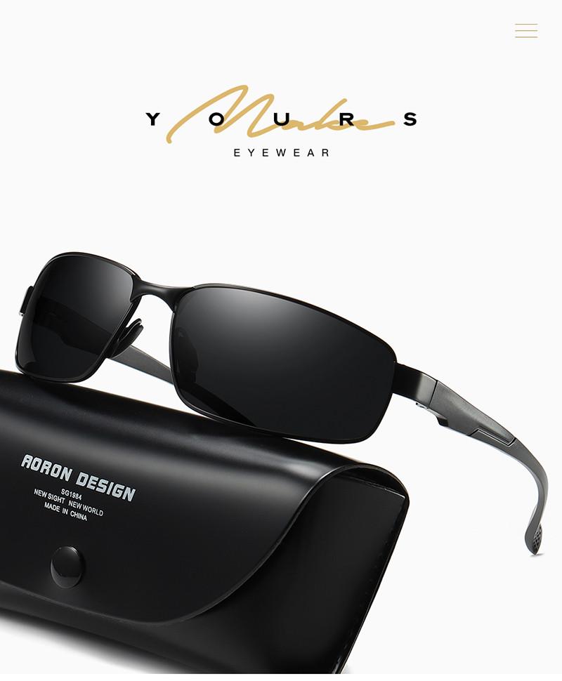 Men Aluminum Polarized Sunglasses Sports Classic Mirrored Sun Glasses Eyewear