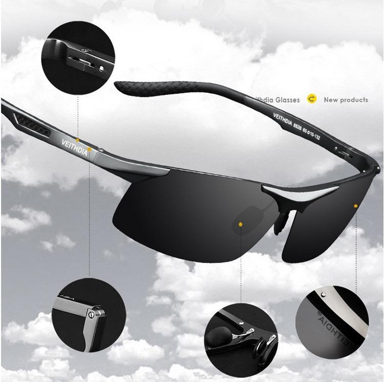 3a601db7e6b0 HD Polarized Mens Sunglasses Outdoor Sports Pilot Eyewear Driving ...