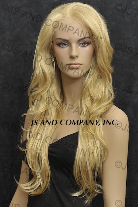 Hi Heat LACE FRONT WIG Long Wavy Butterscotch Blonde Mix 008  c2bd3080b481
