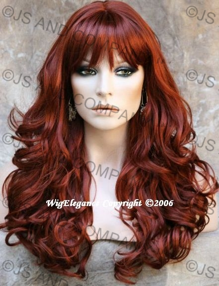 WOW ABSOLUTE BEAUTY Long Wavy Curly Copper Red Wig WACA 130 with ... 734e63a1c68c