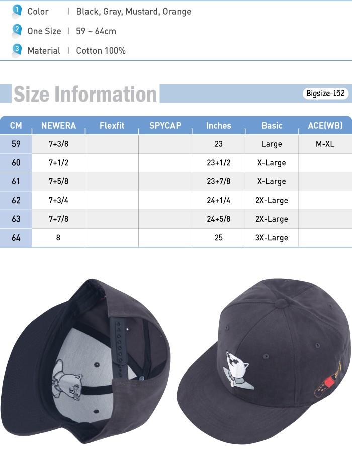 1c019048cf9 G152 Men Trendy Gentleman Irish Bear Snapback Cap Plus Big Size XL ...