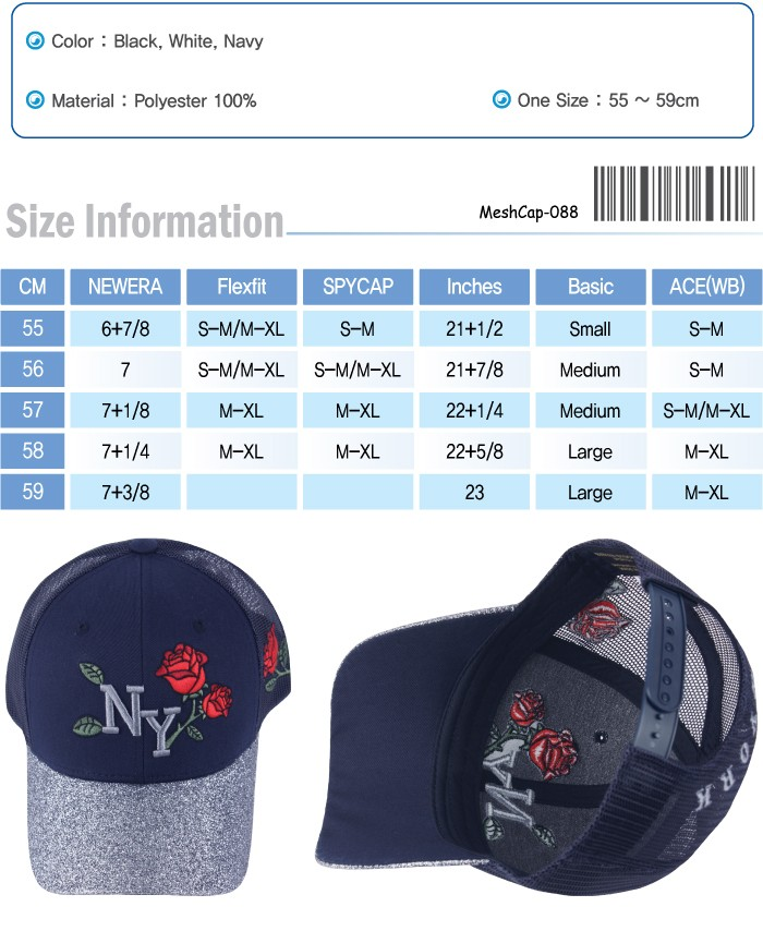 6358ffc569c2e6 M88 Cool Mesh NY Rose Patch Unisex Design Summer Driving Hat ...