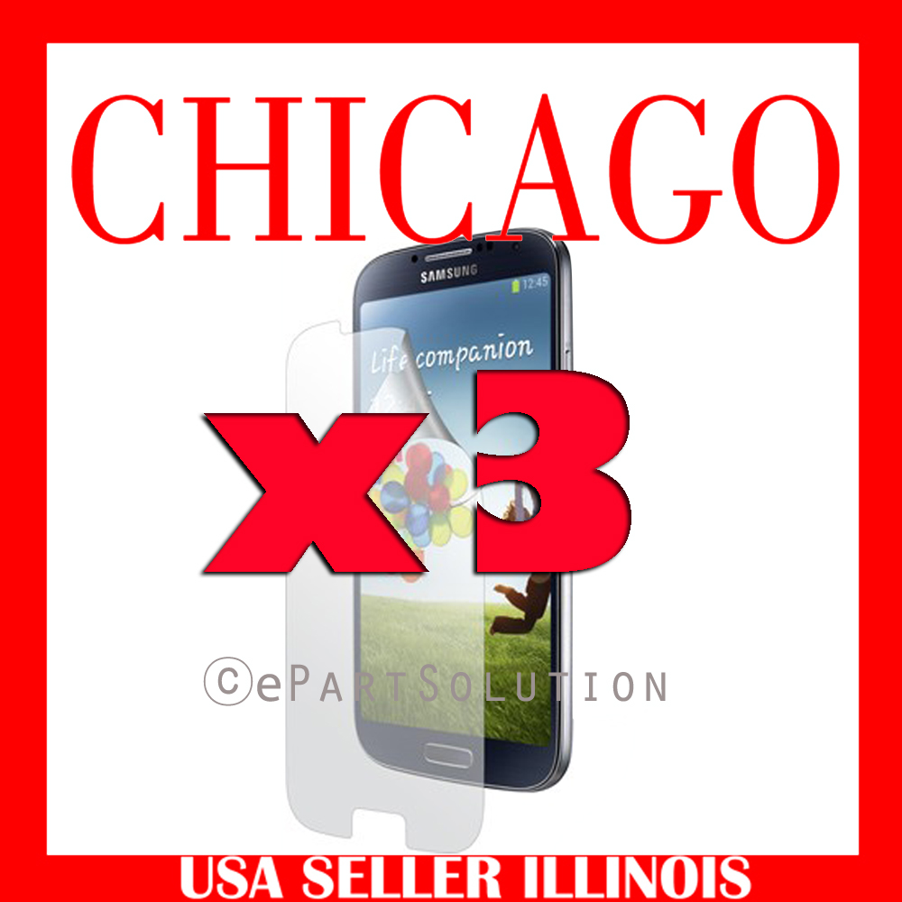 3 x Anti Glare Screen Protector for Samsung Galaxy S4 I9500 I9505 L720 M919 I545