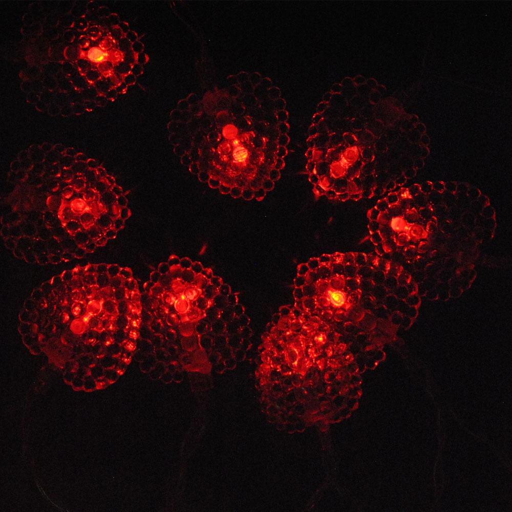 fonctionne piles rouge c ur guirlande lumineuse led. Black Bedroom Furniture Sets. Home Design Ideas