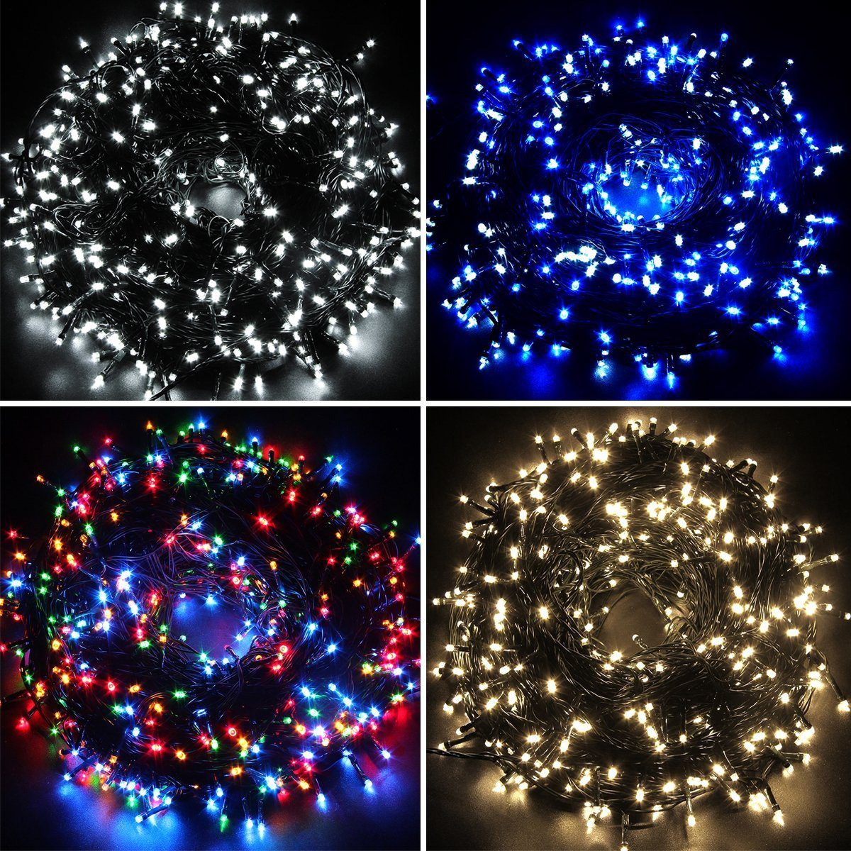 Waterproof Fairy Lights 100 /200 /300/400/500 LED Outdoor ...