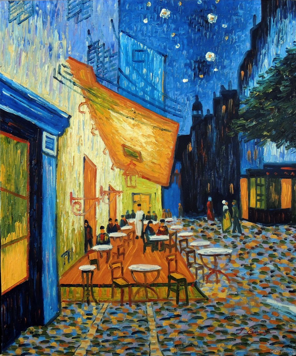 Cafe Terrace At Night Famous Van Gogh Repro Outdoor Table