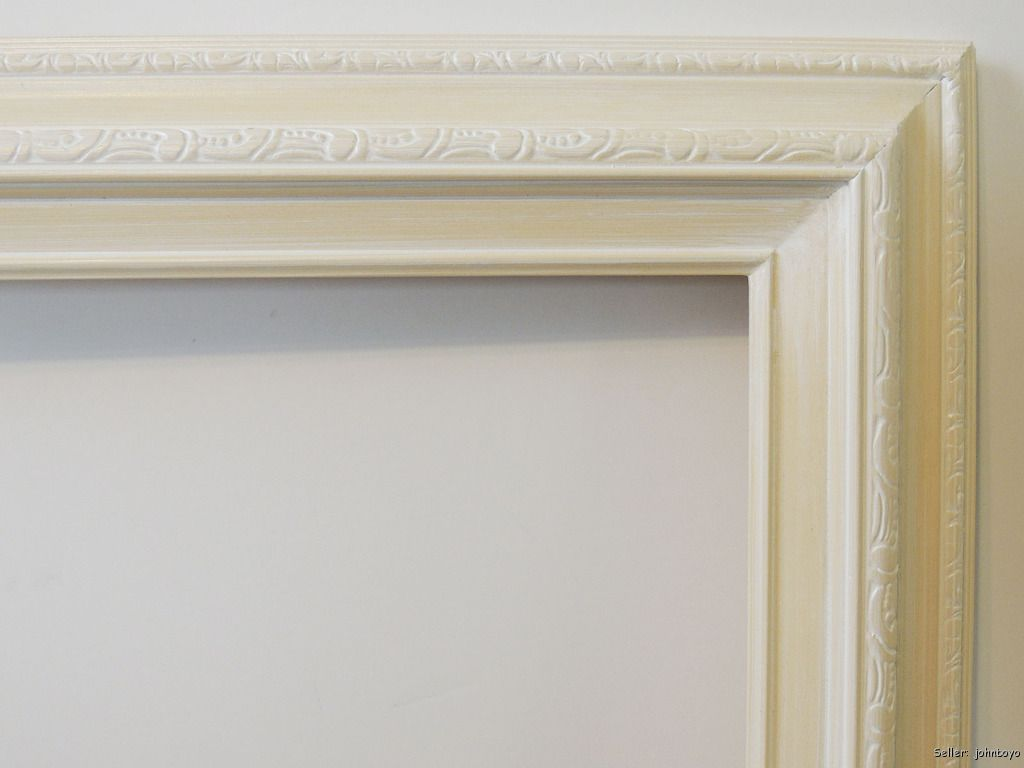 picture frame white off white for oil painting etc fits 24 x 36 art ebay. Black Bedroom Furniture Sets. Home Design Ideas