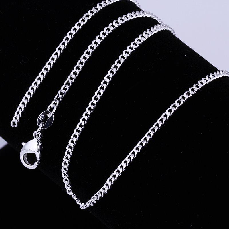 Men/'s Women/'s  Wholesale 925 Sterling Sliver Filled 51CM 6MM Chain Necklace