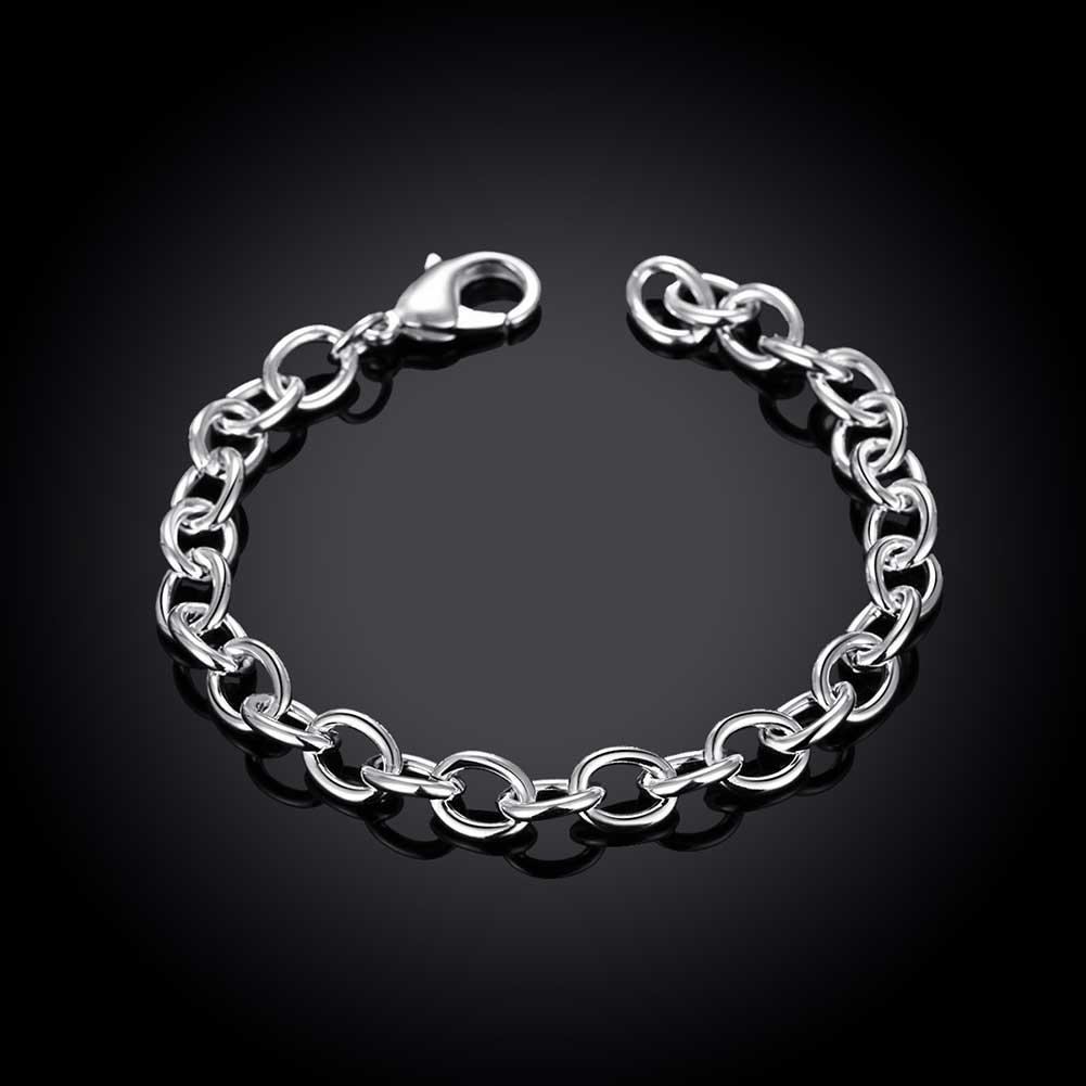 jolie et colorée les dernières nouveautés nouveau design Details about Stunning 925 Sterling Silver Filled Solid Classic Charm Chain  Bracelet 8''