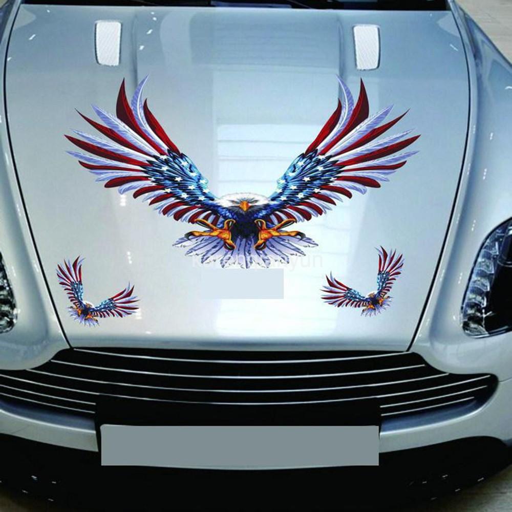 SetPcs Car Decal Flying Hawk Auto Truck Side Eagle Vinyl - Custom vinyl decals for car hoods
