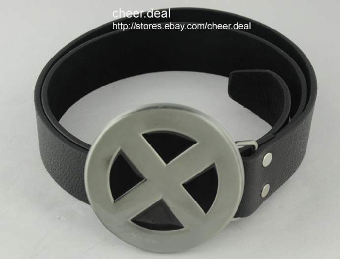 Cool Marvel Comics X Men Shield Superhero Mens Boy Metal Buckle Pu