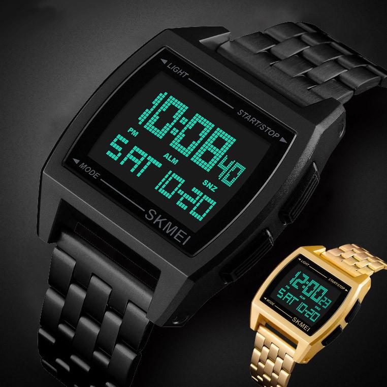 37da2046b46b SKMEI Mens LED Digital Quartz Watch Army Sport Military Black ...