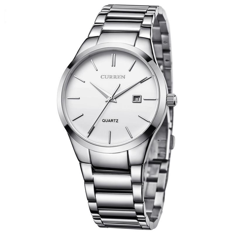 ca511b0dc1 Details about CURREN Men Fashion Military Stainless Steel Analog Date Sport  Quartz Wrist Watch