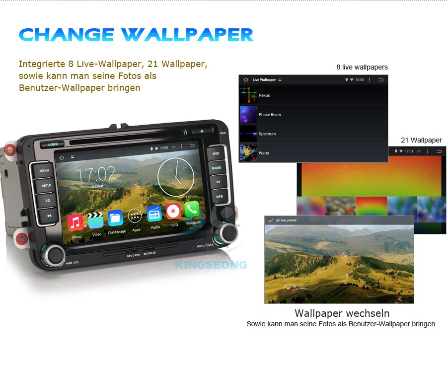 autoradio android 4 4 4 dvd gps navi for vw passat cc golf 5 6 jetta polo caddy ebay. Black Bedroom Furniture Sets. Home Design Ideas