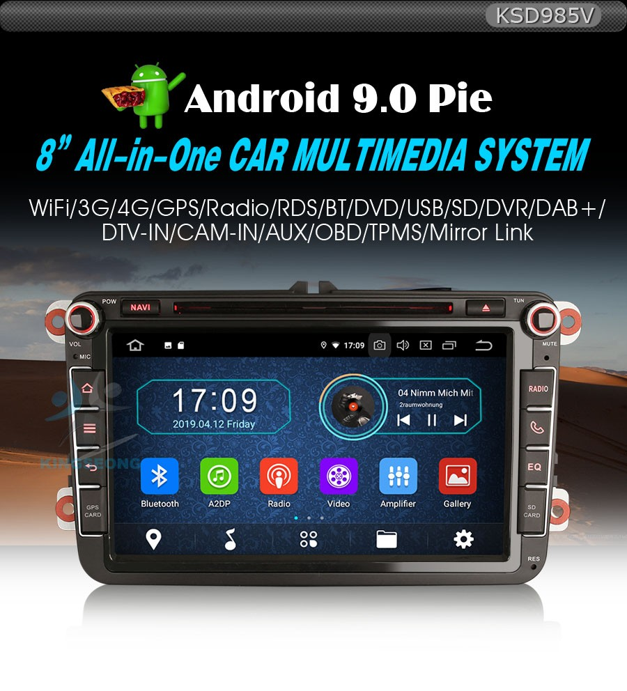 Details about Android 9 Head Unit DAB Radio GPS SatNav WiFi OBD BT For VW  Caddy EOS Jetta Polo